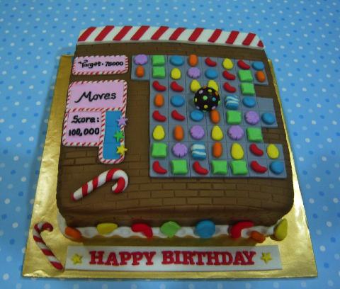 Candy Crush Birthday Cake Ideas